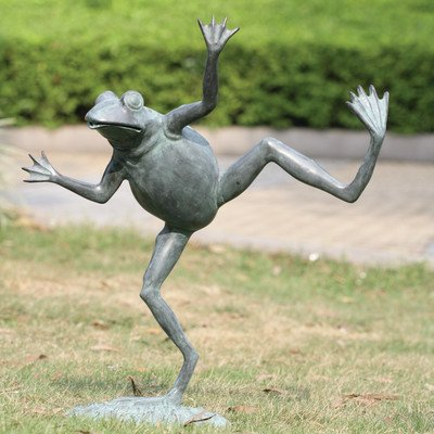 Dancing Frog Spitter Sculpture