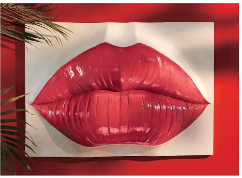 Red Hot Lips Wall Sculpture