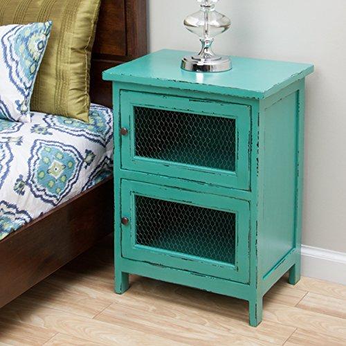 Rustic Turquoise Nightstand