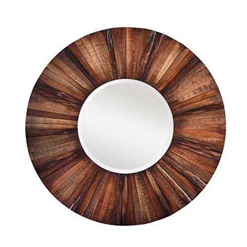 Unique Kona Mirror with Natural Wood Finish