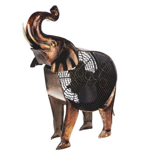 African Elephant Metal Fan