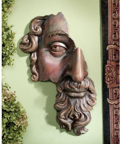 Classical Fragment Face Wall Sculpture