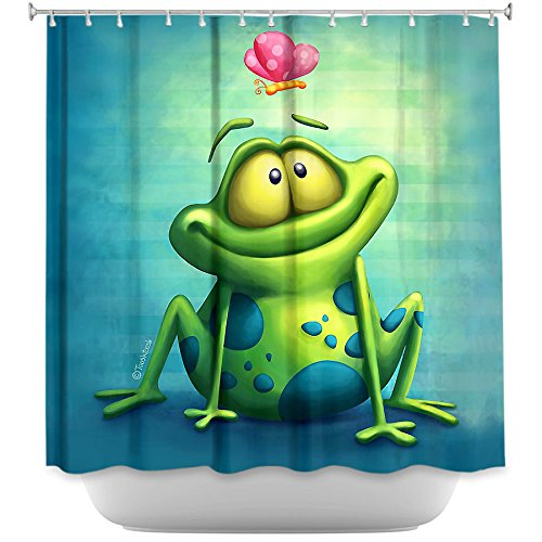 Fun Frog Shower Curtain