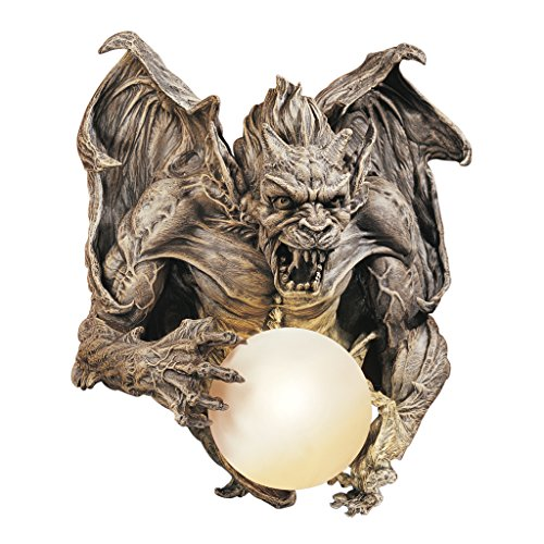 Dragon Gargoyle Wall Light Sculpture