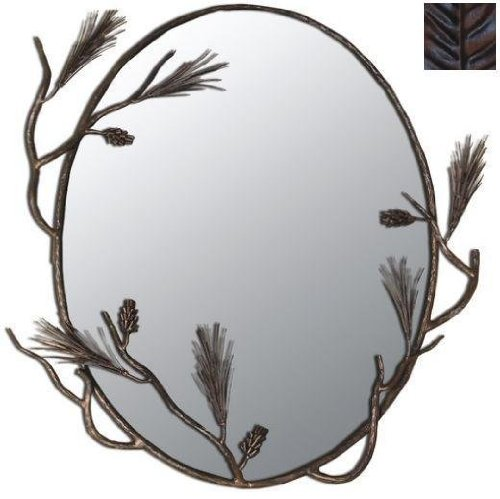 Pine Branches Decorative Oval Mirror