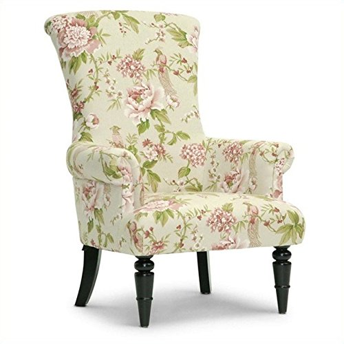Lovely Linen Floral Accent Chair