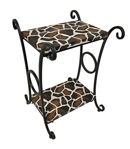 Giraffe Print Accent Table