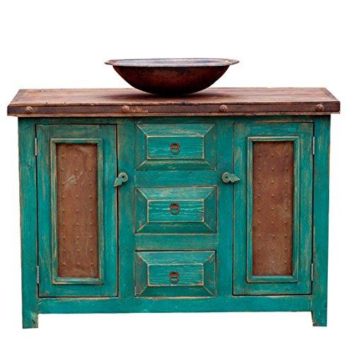 Rustic Turquoise Bathroom Vanity