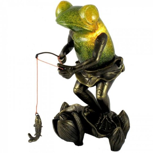 Fun Fishing Frog Table Lamp