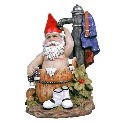 Fun Bathing Gnome Statue