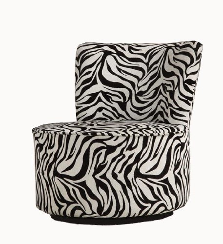 Fun Zebra Swivel Chair