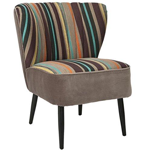 Fun Rainbow Striped Accent Chair