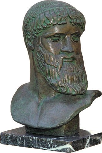 Greek God Sculpture Zeus Bust