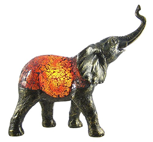Elephant Accent Lamp Bronzed Base