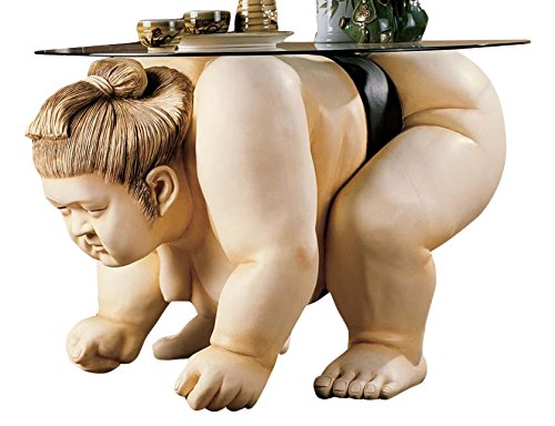Sumo Wrestler Sculpture End Table