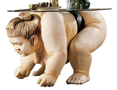 Sumo Wrestler Sculpture End Table