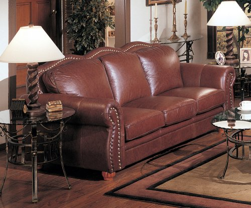 100% Italian Leather Sofa