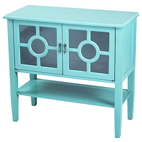 Cute Turquoise Media Console