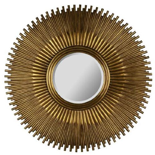 Copper Sunburst Beveled Wall Mirror