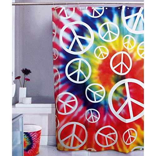 Funky Peace Sign Retro Groovy Shower Curtain