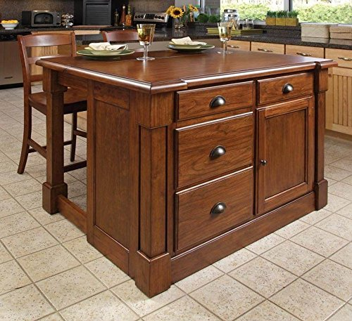 3 Piece Kitchen Island & Stool Set