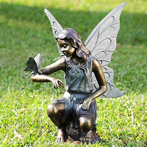 Magical Fairy and Butterfly Garden Statue