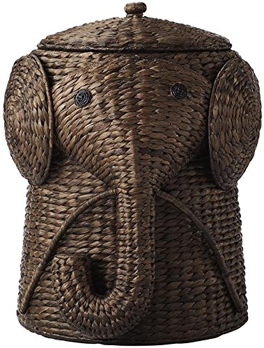 Elephant Wicker Hamper