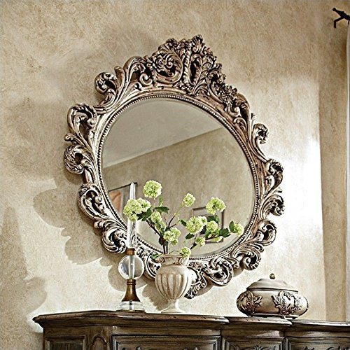 Beautiful Oval Decorative Mirror in Silver Veil