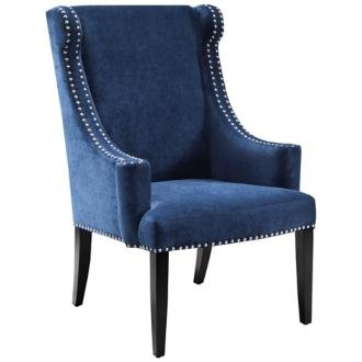 Elegant Royal Blue Vintage Style Glam Chair