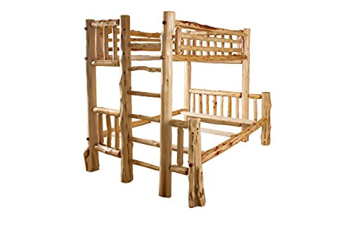 Twin over FULL Rustic Red Cedar Log BUNK BED