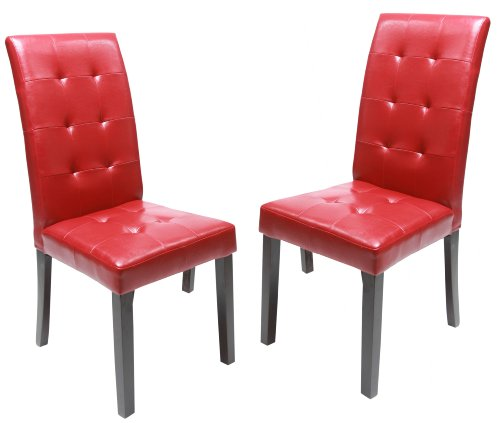 Solid Wood Red Dining Chairs