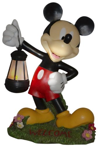 Cute Outdoor Solar Powered Mickey Mouse Statue