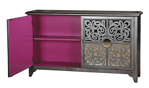 Pink and Silver Credenza