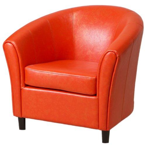 Orange Leather Retro Chair