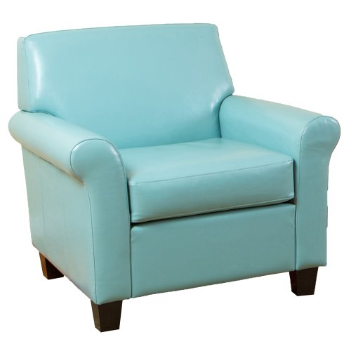 Blue Leather Retro Style Chair