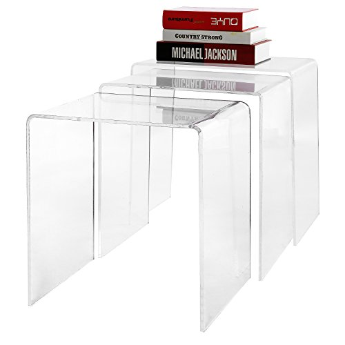 Clear Acrylic Nesting Coffee Tables