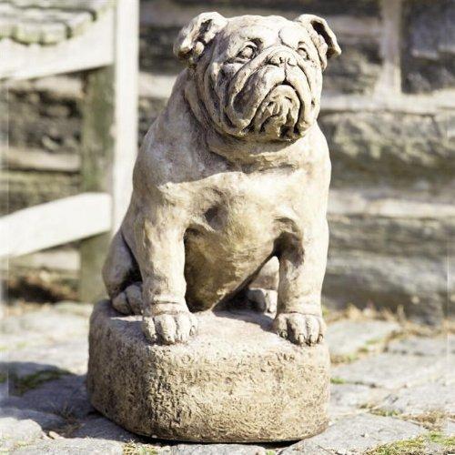 Cute Stone Bulldog Statue