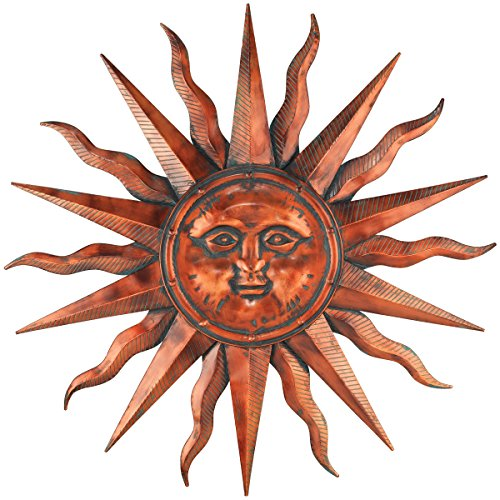 Sun Copper Patina Art