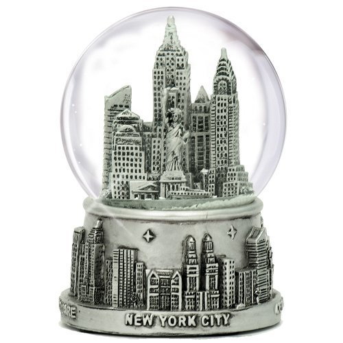 New York City Silver Lined Snow Globe