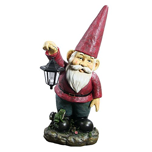 solar powered gnome statue