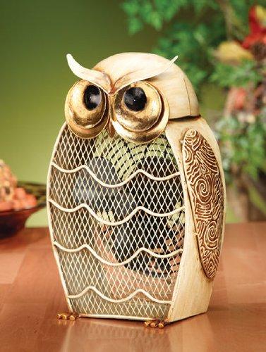 Snow Owl Shaped Fan