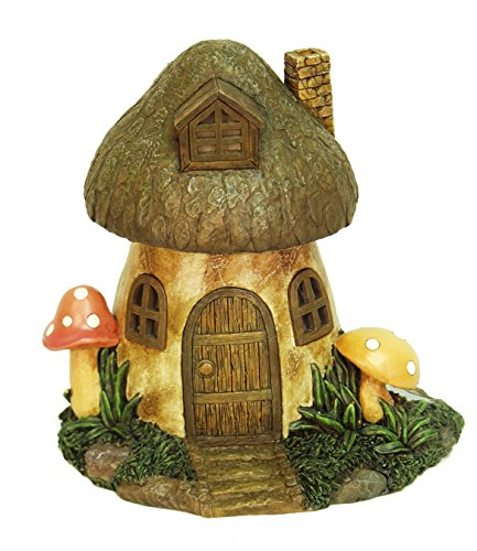 Solar Powered Mushroom Home Statue