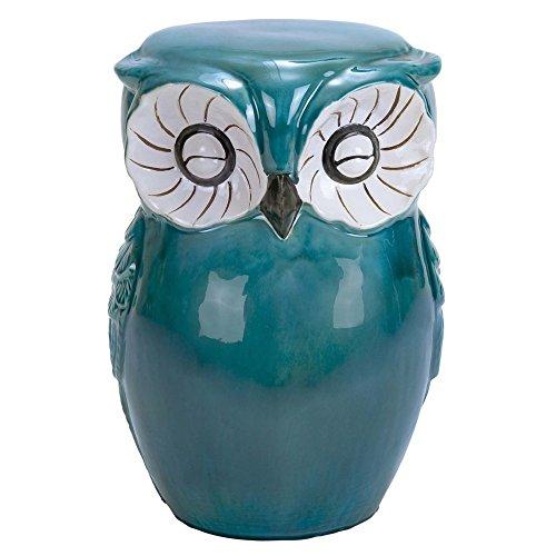 Owl Ceramic Garden Stool