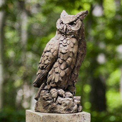 Large Horned Owl Garden Statue