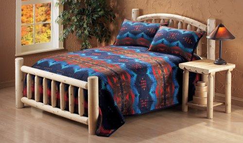 Natural CEDAR LOG Rustic Bed