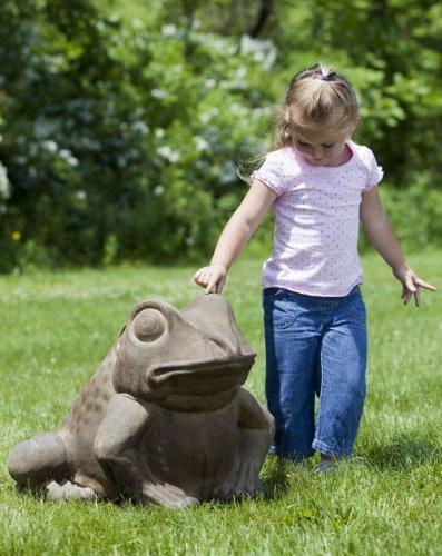 Giant Stone Frog Garden Statue