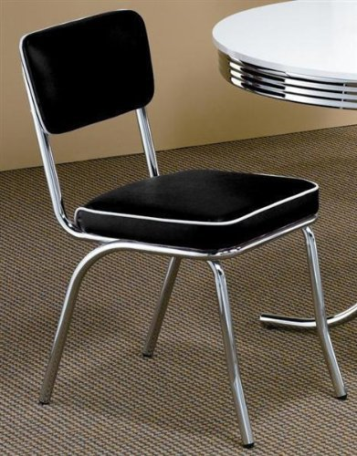 Retro Nostalgic Style Black Dining Chairs