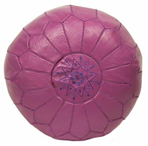 cute leather pouf