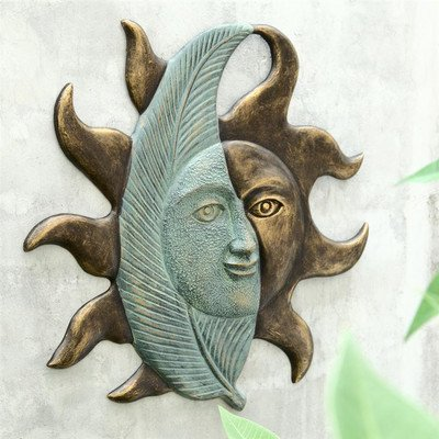 Leaf and Sun Face Wall Hanging