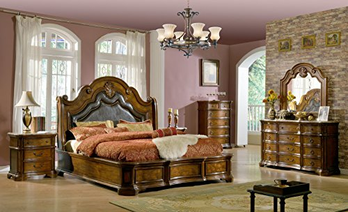 5-Piece Tuscany Modern Wood King Bedroom Set